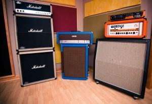 Nashville Recording Studio guitars
